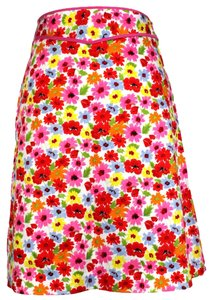 Madison Studio Print Skirt Multi-Color, Pink, Red, Yellow, Light blue