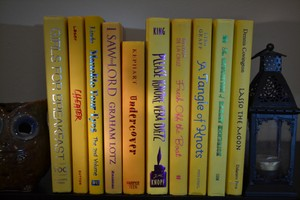 Vintage Style Books - Yellow 1220 - Set Of 10
