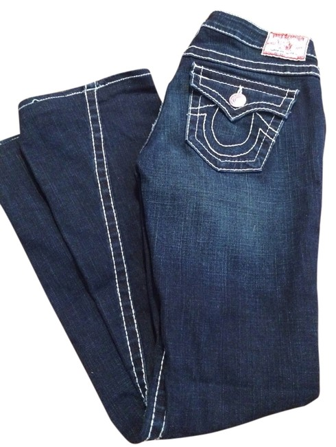 Item - Dark Wash with White Seams Rinse Joey Big 7 Trouser/Wide Leg Jeans Size 29 (6, M)