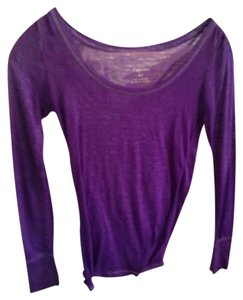 American Eagle Outfitters Long Sleeve Comfy T Shirt Purple