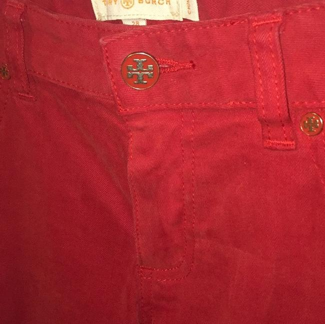 Item - Red Cropped Skinny Jeans Size 28 (4, S)