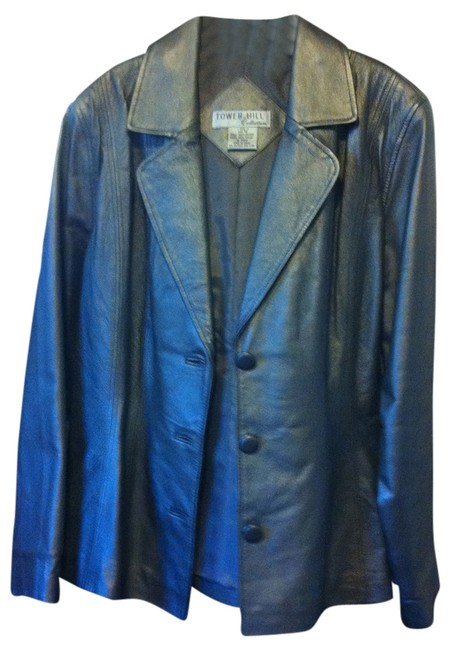 David Benjamin and Tower Hill collection Silver Leather three-piece suit