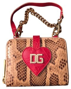 Dolce&Gabbana Wristlet in Red And Beige
