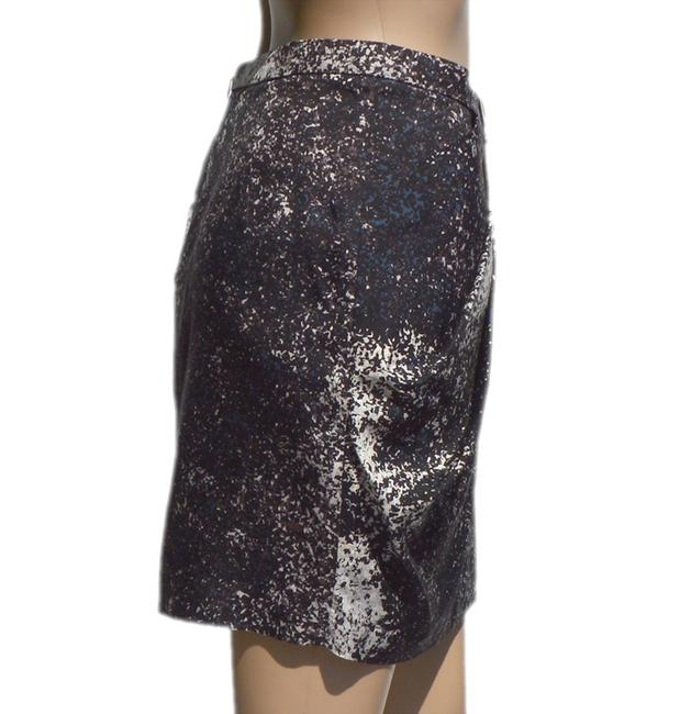 Halston Skirt Black/White/Brown/Blue