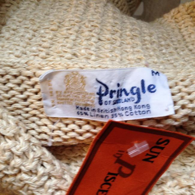 Pringle of Scotland Vtg Knit Cotton Linen Collared Color M Sweater