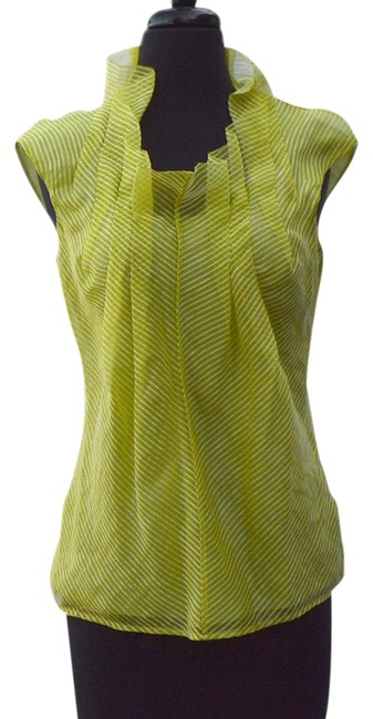 Lela Rose Top Lime/white