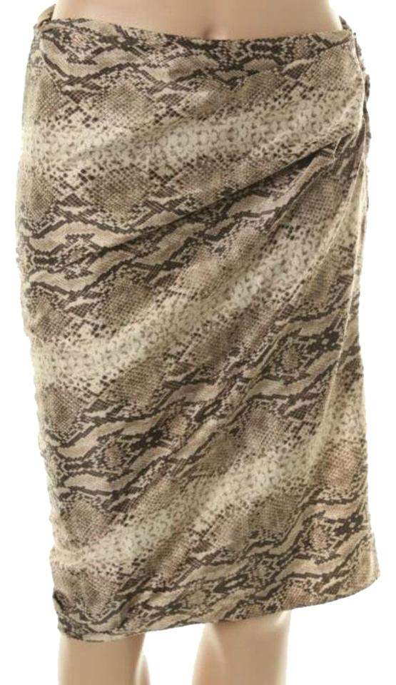 f51c1a1d74 Victoria's Secret Brown/Tan Body By Snakeskin Pattern Skirt Size 4 ...