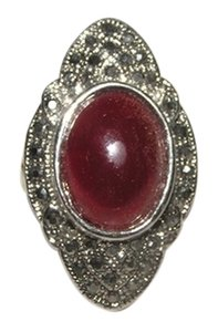 Other Flashy Red Maroon Lucite Diamante Ring Free Shipping