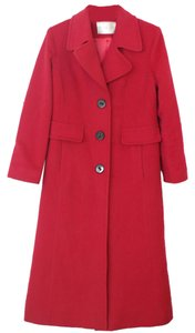 Fleurette Single Breasted Wool Cashmere Size 4 Small Long Womens Pea Coat