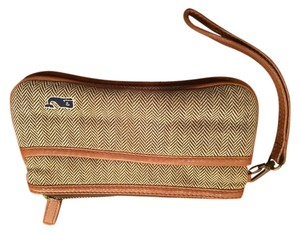 Vineyard Vines Wallet Clutch Lilly Pulitzer Wristlet in Multicolor (Brown/Cream)