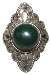 Other Diamante Fashion Green Silver Ring Free Shipping