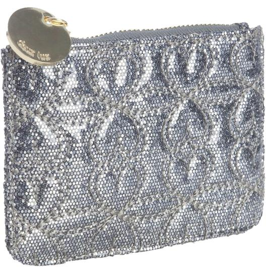 deux lux Sweethearts Coin Wristlet in Silver
