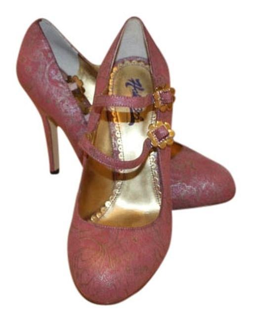 Item - Pink and Gold Pumps Size US 8 Regular (M, B)