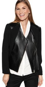 Calvin Klein Calvin Klein Moto Style Jacket with Leather Panelling