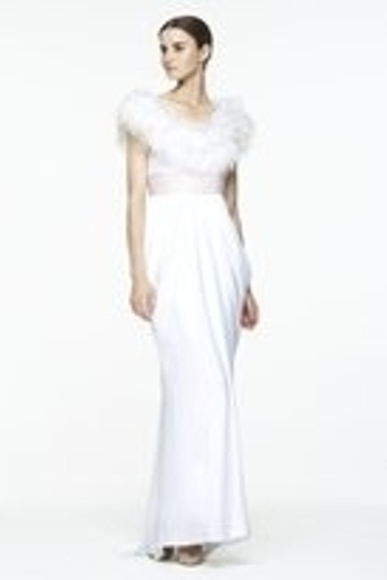 Item - White Bcbg Modern Wedding Dress Size 6 (S)