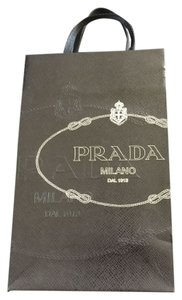 Prada Small Prada Navy Paper Shopping Tote Bag