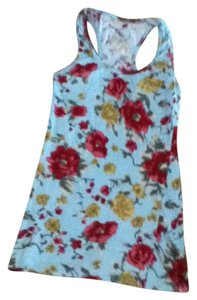 Rue 21 Top Blue with flowers