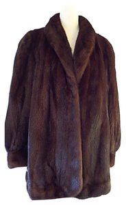 Female Mahogany Mink Fur Coat Fur Coat