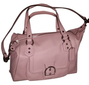 Coach Leather Pearl Satchel in Pink