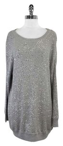 Haute Hippie Grey Silk Blend Sequin Sweater