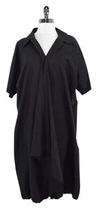 Max Mara Black Silk Short Sleeve Shirt Shirt Dress