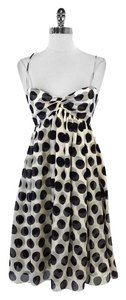 MILLY short dress Black White Polka Dot Silk Babydoll on Tradesy