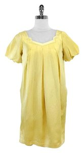 Hanii Y short dress Yellow Silk Short Sleeve on Tradesy