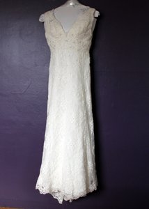Casablanca Ivory French Lace 1979 Wedding Dress Size 2 (XS)