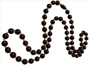 unknown black bead necklace
