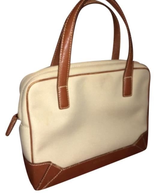Item - Messenger Crossbody Messenger/ Tan Leather and Cordura Fabric Baguette