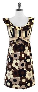 Betsey Johnson short dress Black Brown Floral Print Cotton on Tradesy