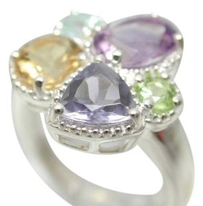 ColoreSG by LORENZO Sterling Silver & 14k White Gold, Natural Amethyst & Multicolor Stones