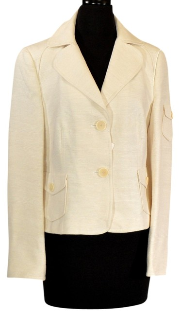 Akris Punto Cream Blazer