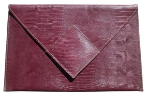 David Mehler for DAME Leather Envelope Purse Mauve Clutch
