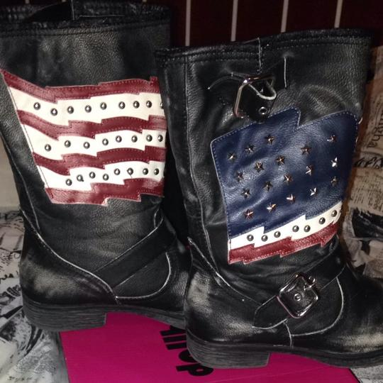 WHITE ONE Black,red,white,blue Boots