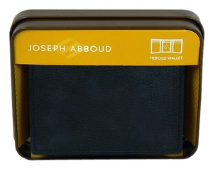 Joseph Abboud Mens Joseph Abboud Tri-Fold Black Leather Wallet