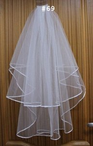 2 Tier Plain White Or Ivory Veil Free Shipping