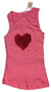 Charlotte Russe Pink Red Heart Top