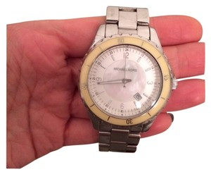 Michael Kors Mother of pearl silver band watch