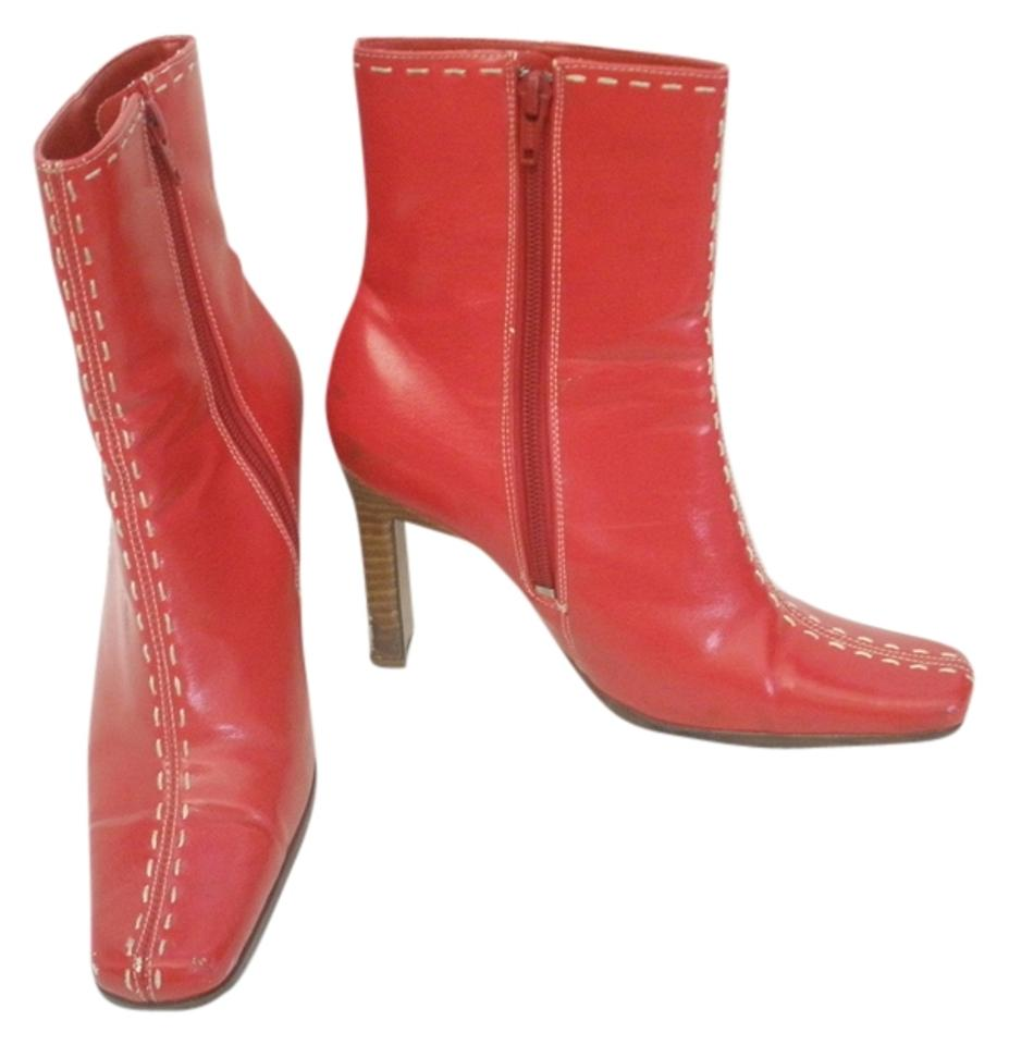 Paprika Red Red Paprika With White Stitching Boots/Booties 068dd5