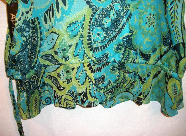 Apt. 9 Top Teal & Green Paisly Size XL