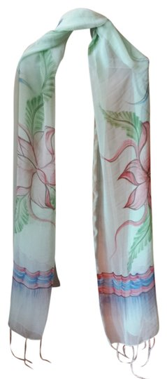 Preload https://img-static.tradesy.com/item/929216/mint-with-large-flowers-soft-pastel-and-fringe-scarfwrap-0-0-540-540.jpg