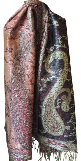 Preload https://item1.tradesy.com/images/reversible-paisley-gold-accents-and-fringe-scarfwrap-929265-0-0.jpg?width=440&height=440