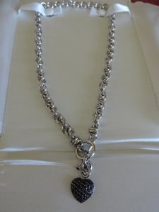 Jared Jared's Silver Toggle Necklace with Lab-Created Sapphire Necklace