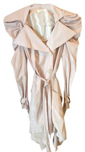 Hazel Ruffle Shoulders Trench Coat