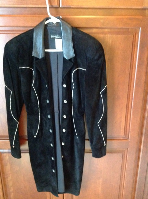 North Beach Leather Silver Beads Give It A Western Look Wear As A Or Dress Western Snap Buttons Coat