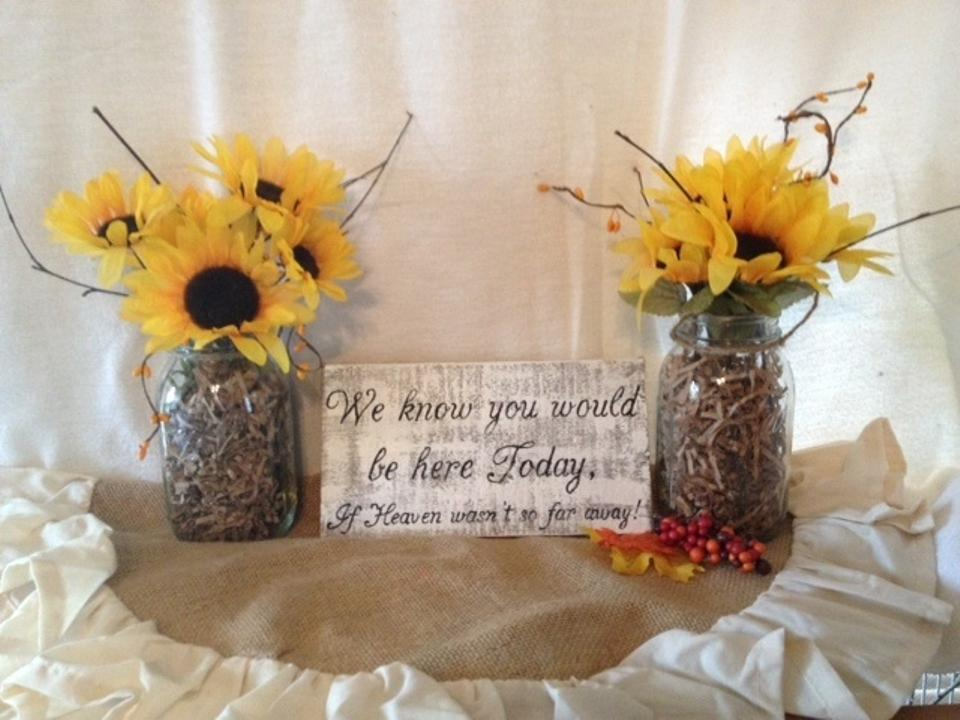 Country Wedding Bridal Shower Baby Shower Memorial Table