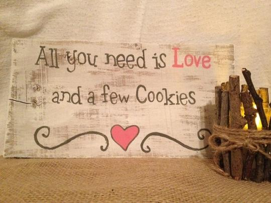 White Rustic/Country Dessert Or Cookie Table Sign Reception Decoration