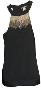 H&M Beaded Top Black with silver hardware