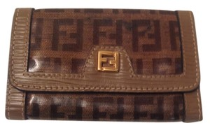 Fendi Fendi Monogram Coated Canvas Leather Key Wallet